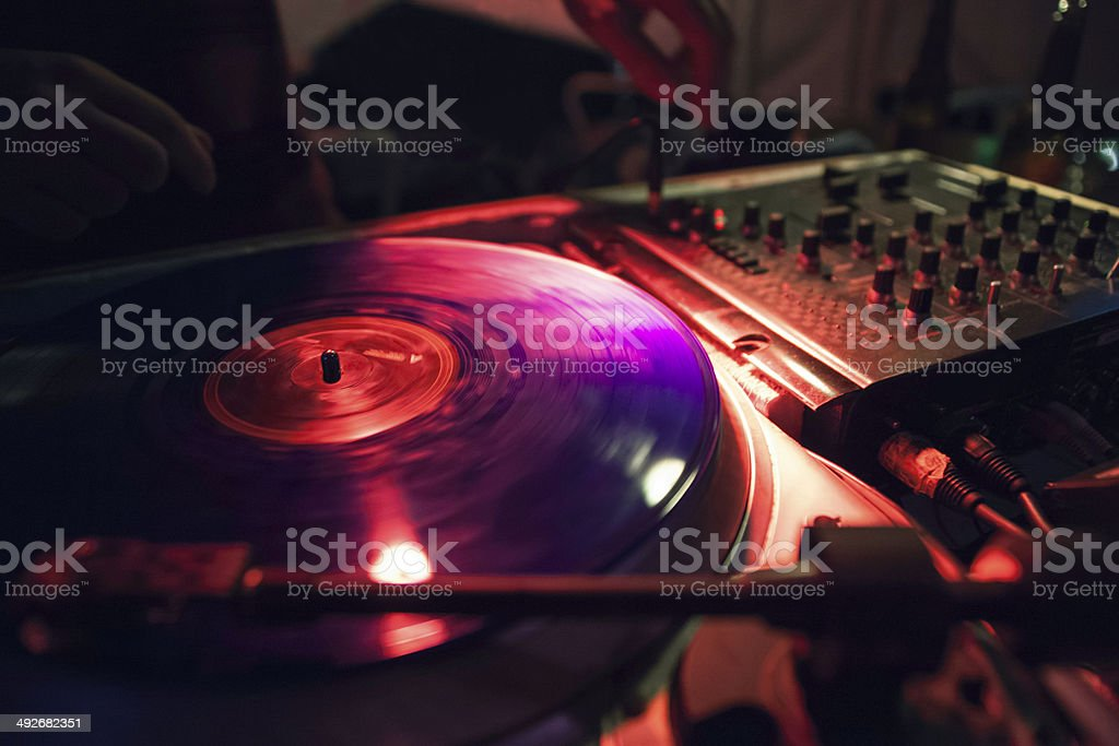 Vinyl party royalty-free stock photo