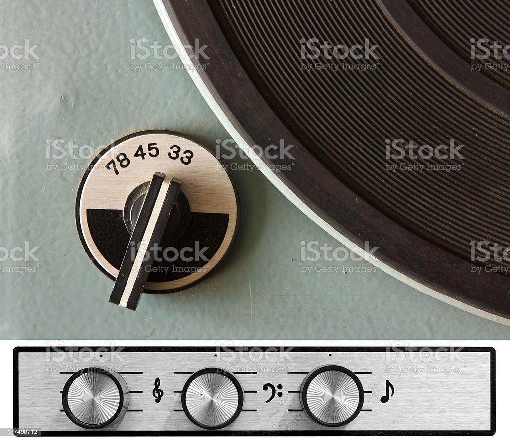 Vinyl player controls royalty-free stock photo