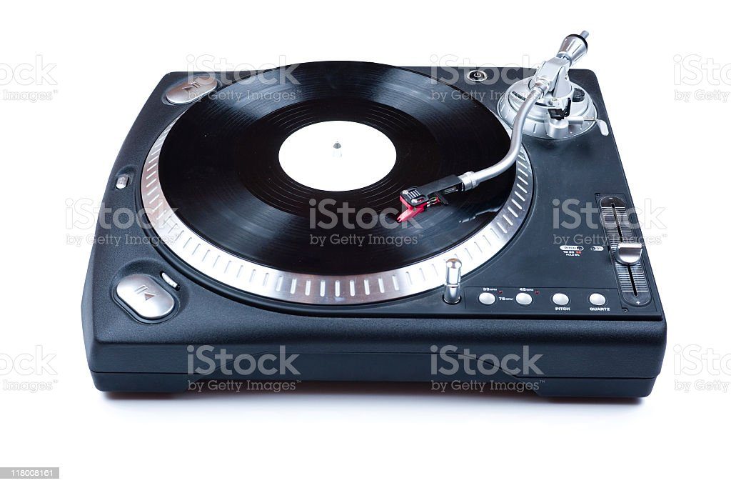 DJ Vinyl Player stock photo