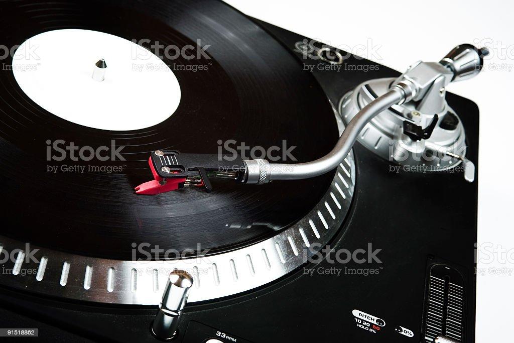 DJ Vinyl Player royalty-free stock photo