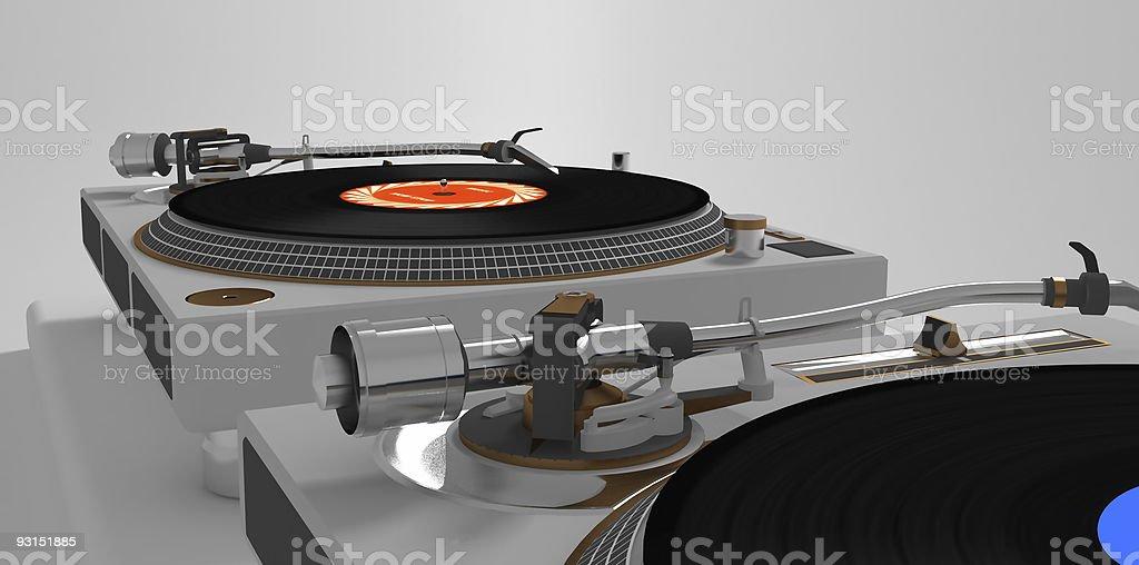 Vinyl Players stock photo