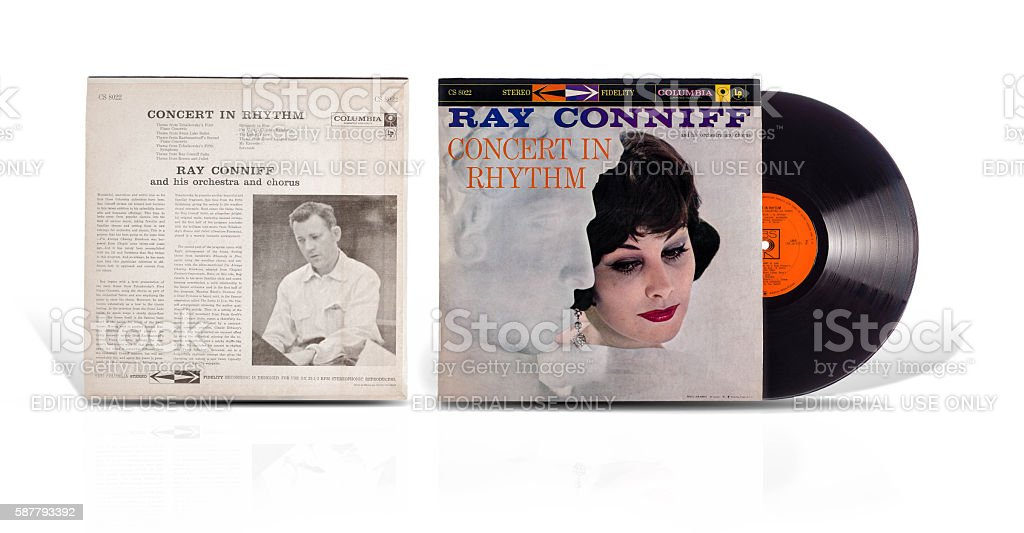 Vinyl record Ray Conniff Concert in Rhythm stock photo