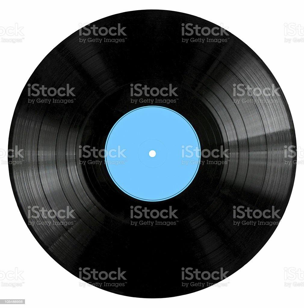 Vinyl Record with BlueLabel stock photo