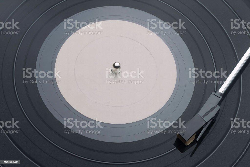 Vinyl Record with Tone Arm stock photo