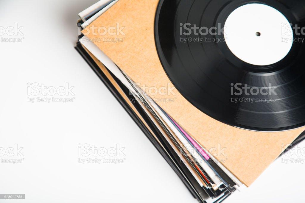 Vinyl records closeup stock photo