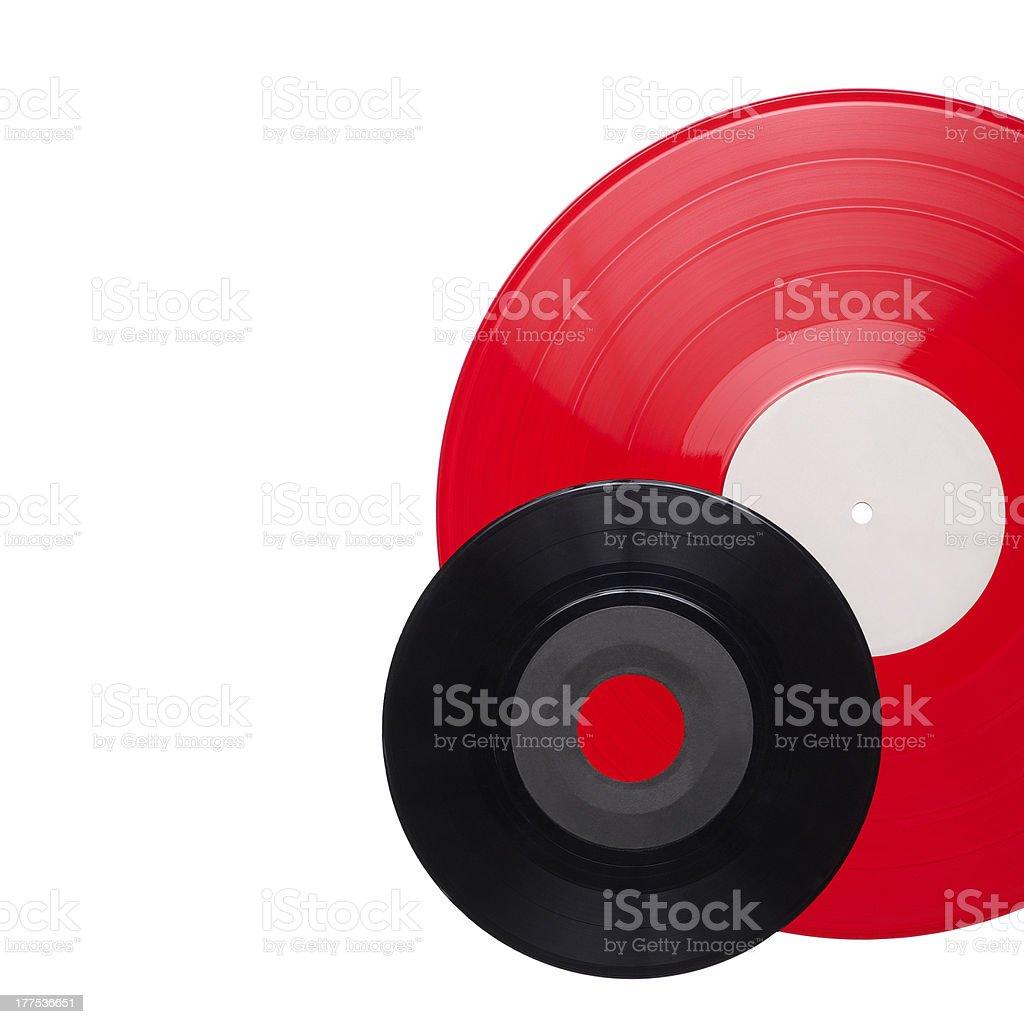 Vinyl records isolated on white royalty-free stock photo