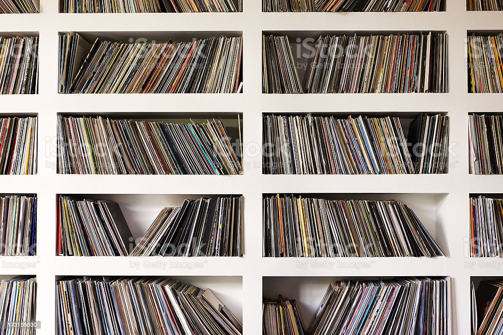 Vinyl Records stock photo