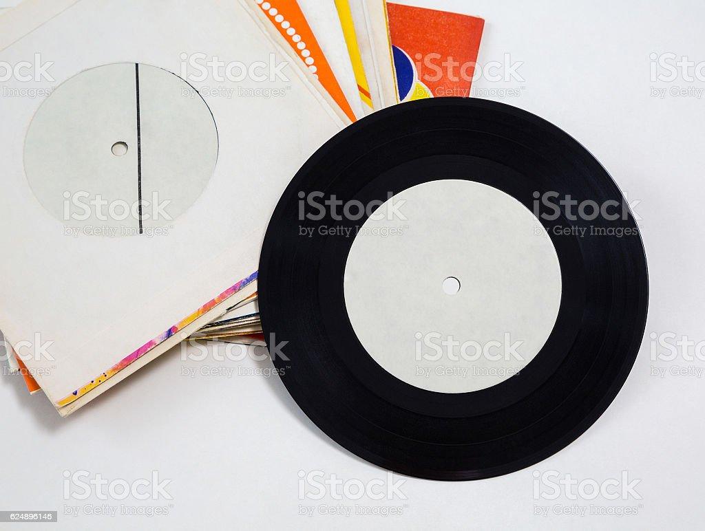 vinyl records, retro stock photo