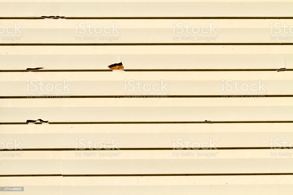 Vinyl Siding Damage From A Hailstorm - XXL royalty-free stock photo