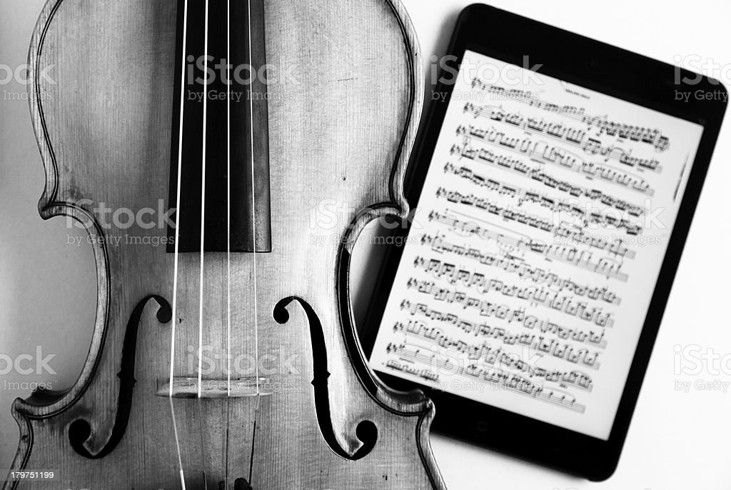 Vioin and music sheet royalty-free stock photo
