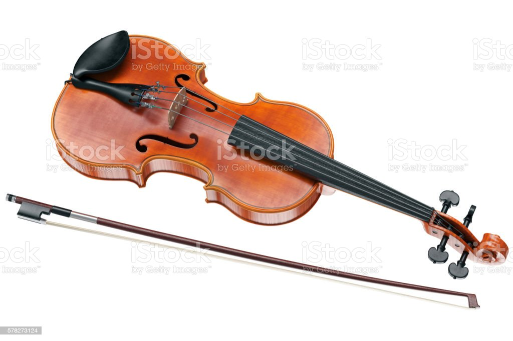 Viola stringed musical instrument stock photo