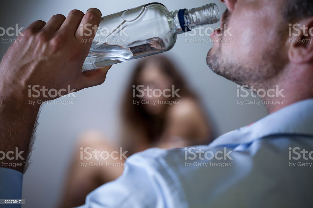 Violence after alcohol stock photo