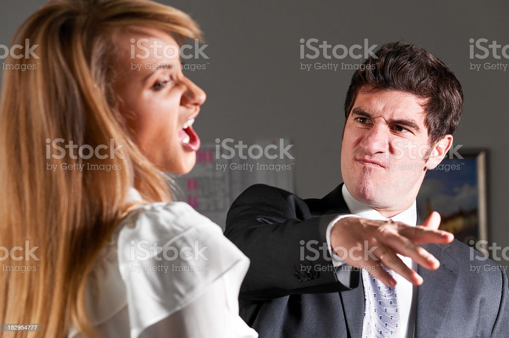 violence at office stock photo