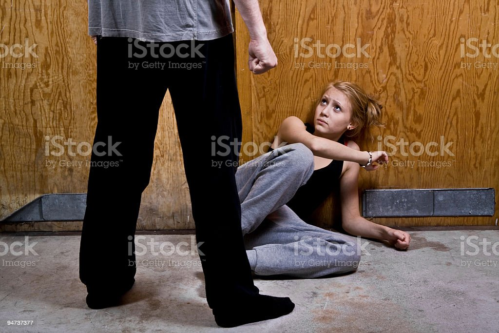 Violence In Family royalty-free stock photo