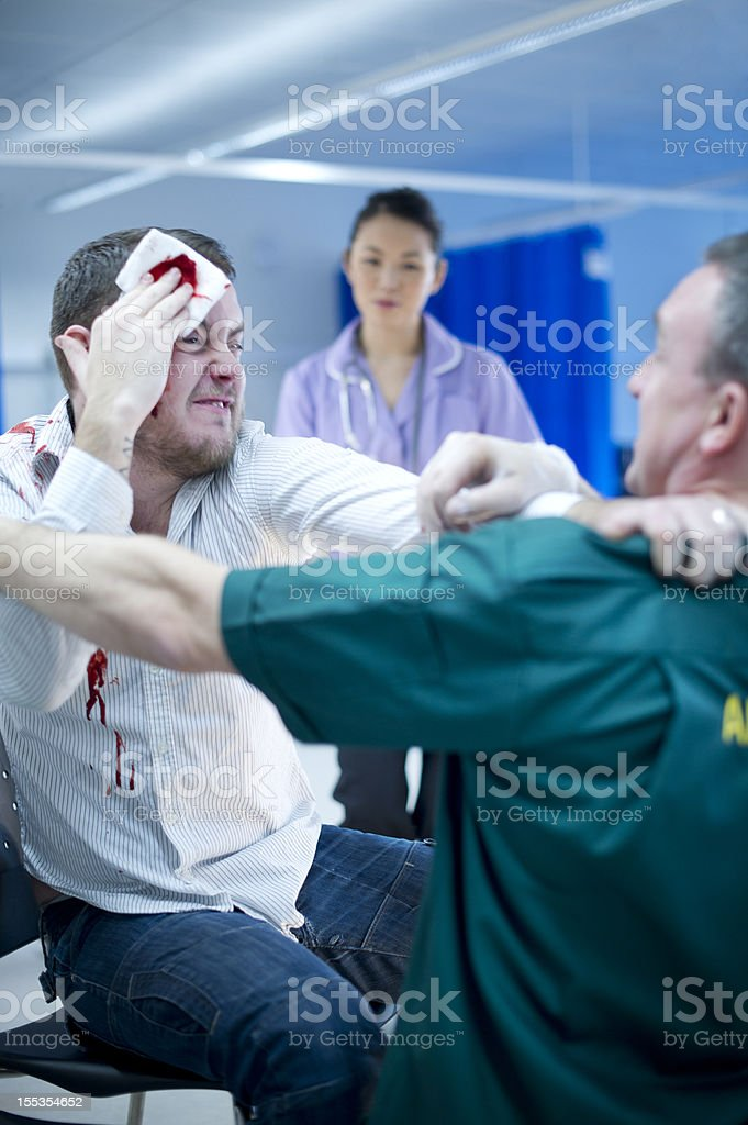 violence to hospital staff royalty-free stock photo