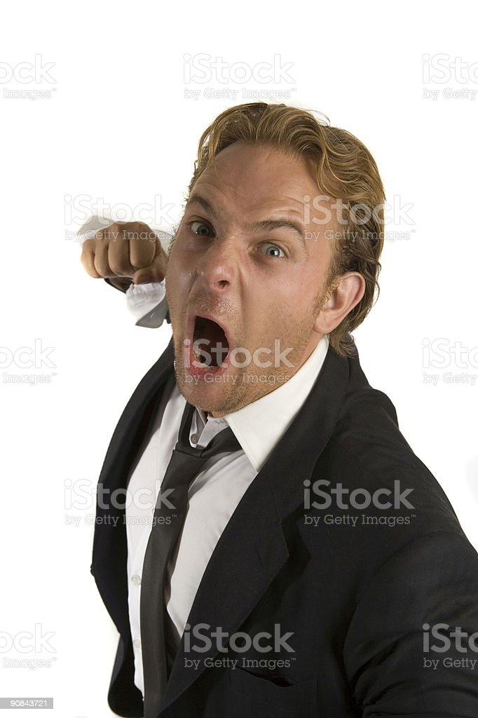 Violent Business Dealing royalty-free stock photo