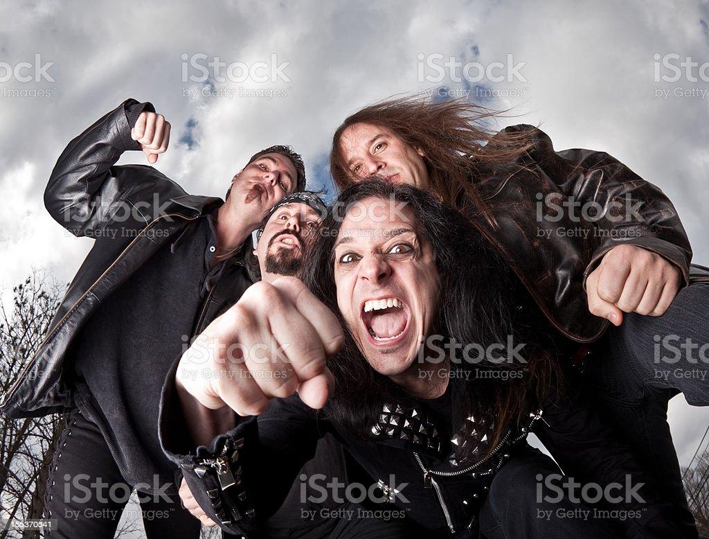 Violent Gang of Bullies royalty-free stock photo