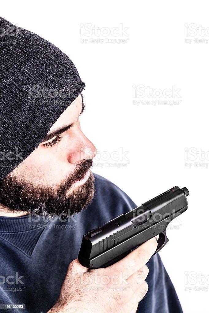 Violent guy stock photo