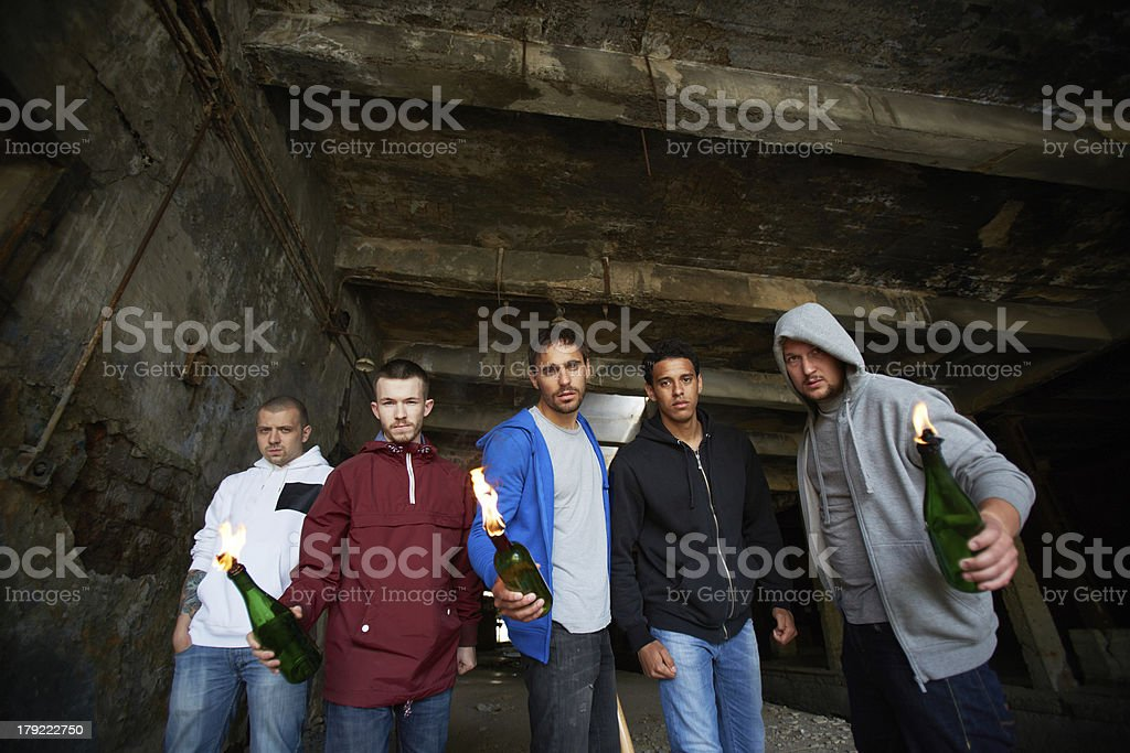 Violent lads stock photo
