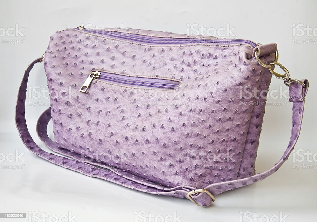 Violet bag royalty-free stock photo