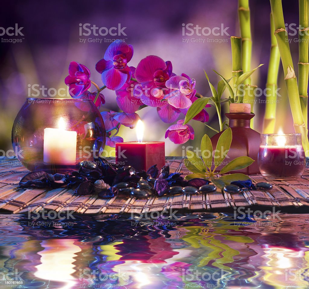 violet beauty composition royalty-free stock photo