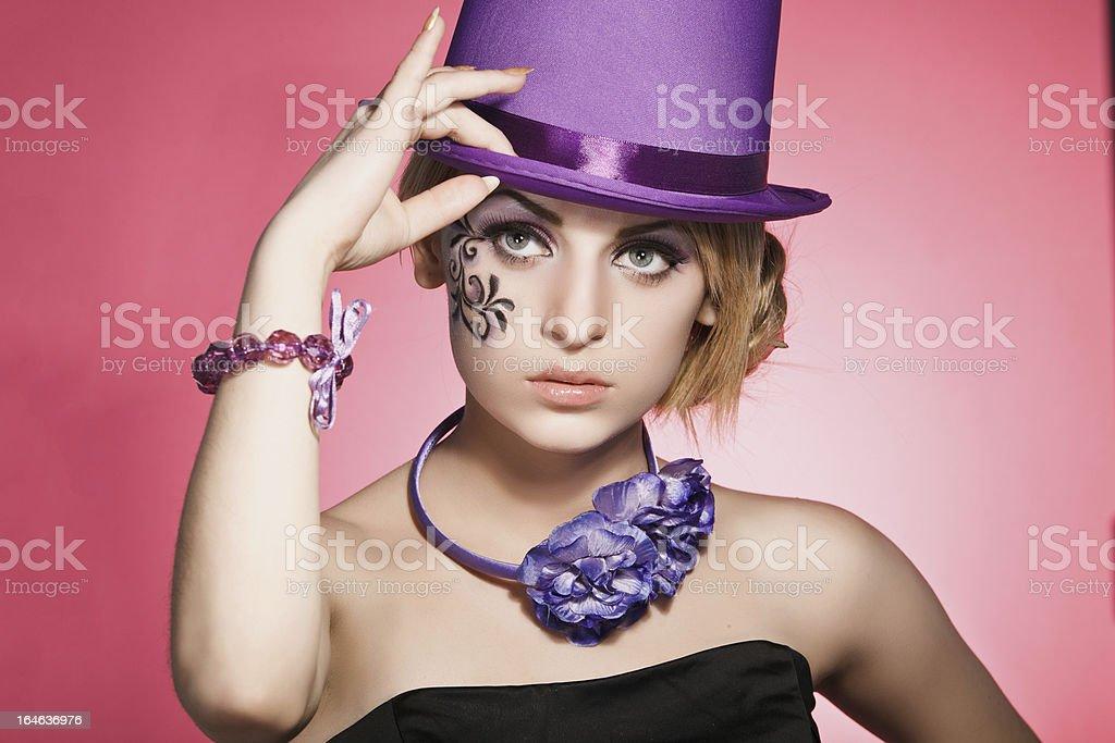 Violet Schönheit Lizenzfreies stock-foto