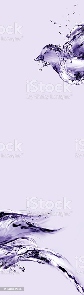 Violet Bird Abstract royalty-free stock photo