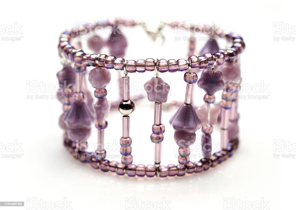 Violet bracelet royalty-free stock photo