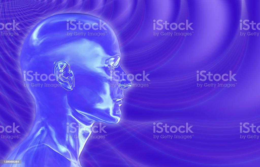 Violet Brainwaves Background royalty-free stock photo