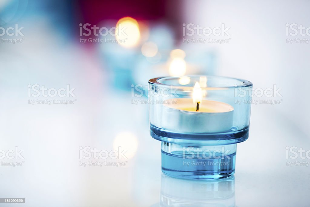 violett candle royalty-free stock photo