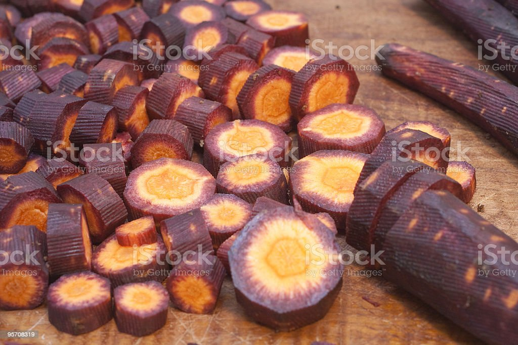Violet carrots stock photo