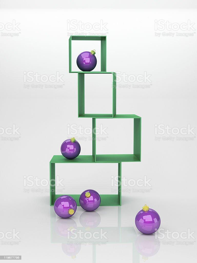 violet Christmas balls royalty-free stock photo
