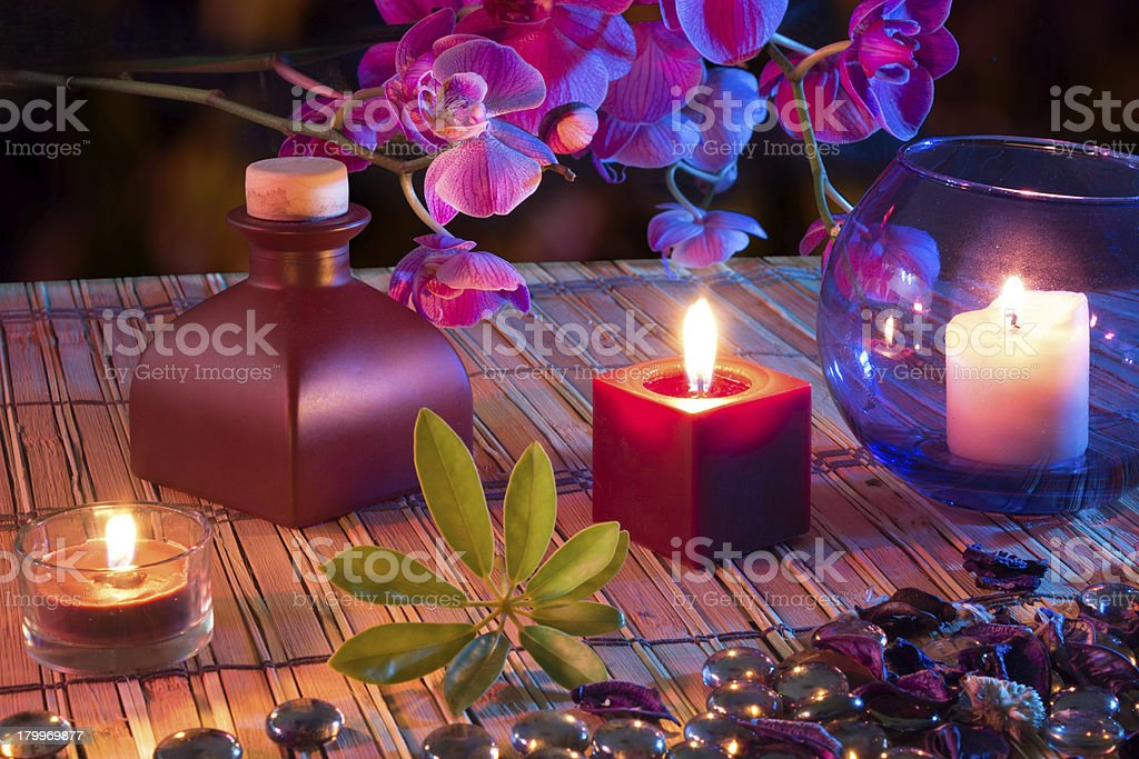 violet composition for Alternative Therapy royalty-free stock photo