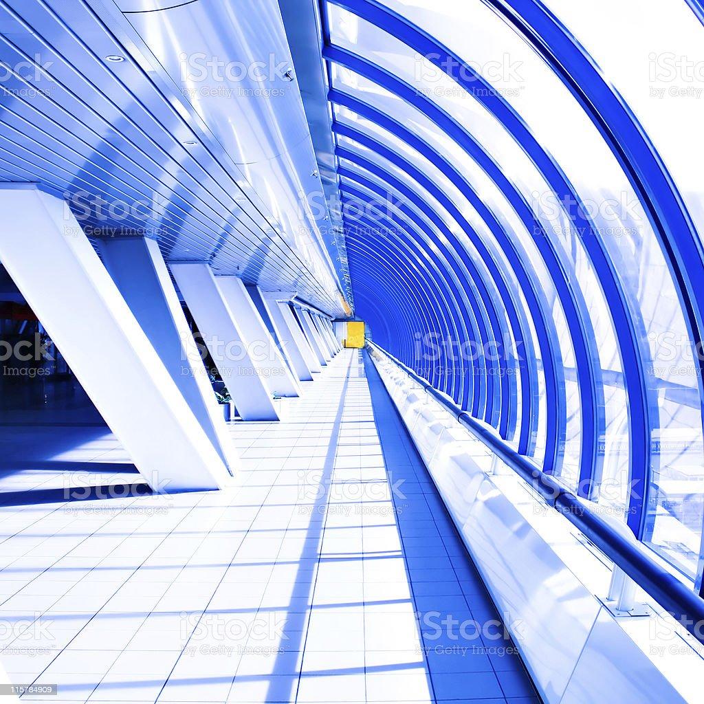 Violet corridor in tube royalty-free stock photo