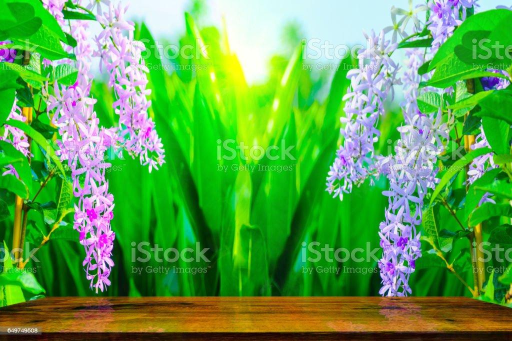 Violet flower of Petrea Flowers stock photo