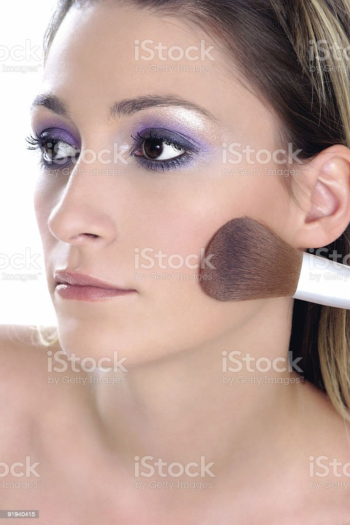 Violet look-step 3-blusher royalty-free stock photo