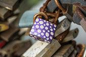 Violet padlock.