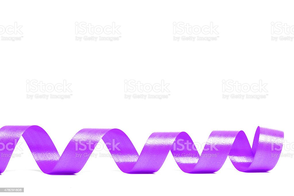 violet satin ribbon stock photo