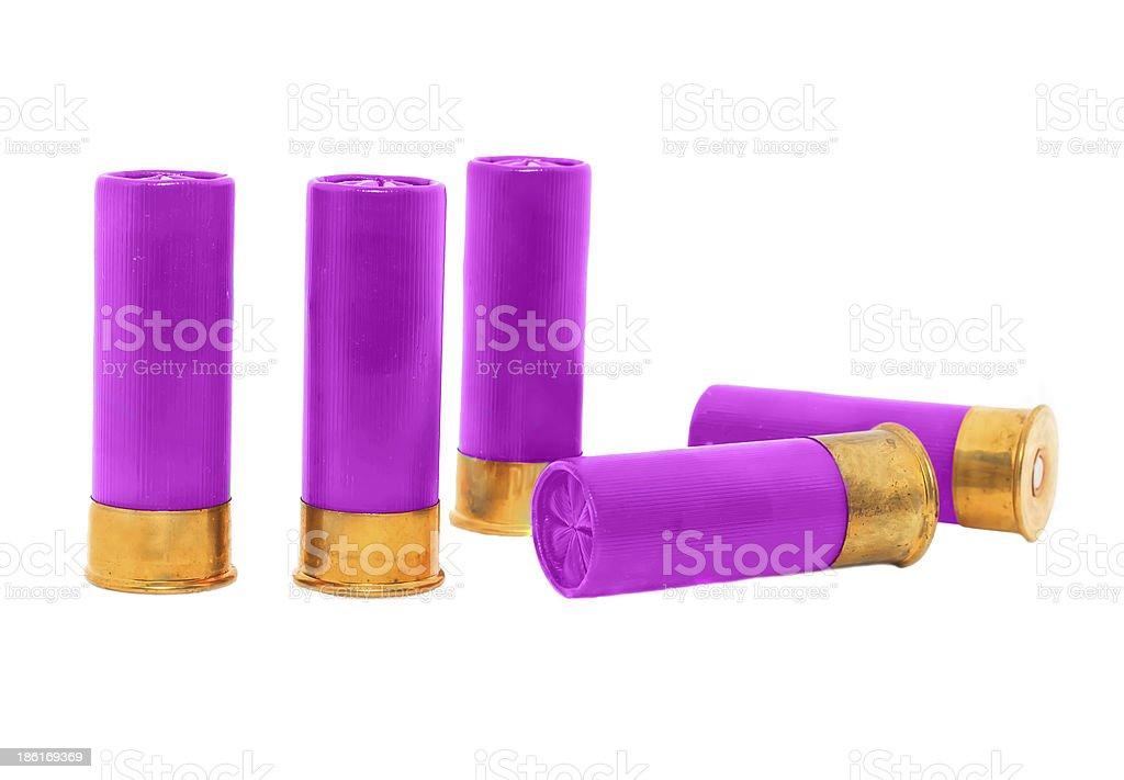 violet shotgun stock photo