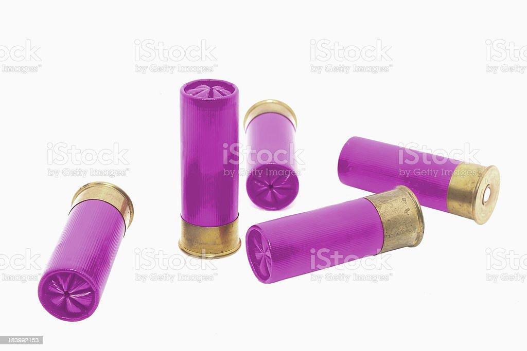 violet shotgun shell stock photo