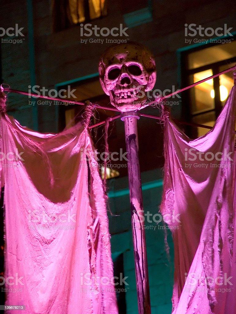 violet skull royalty-free stock photo