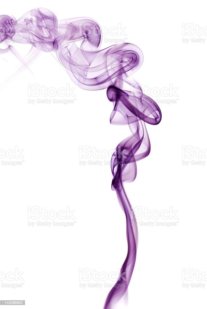 Violet smoke girl royalty-free stock photo