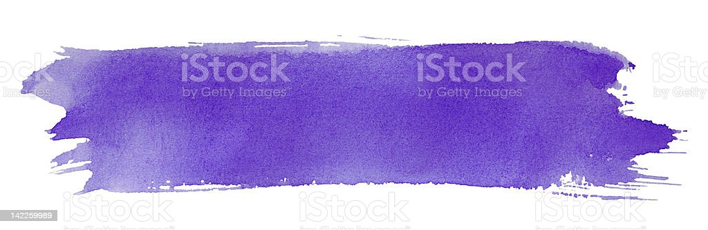 Violet stroke of paint brush stock photo
