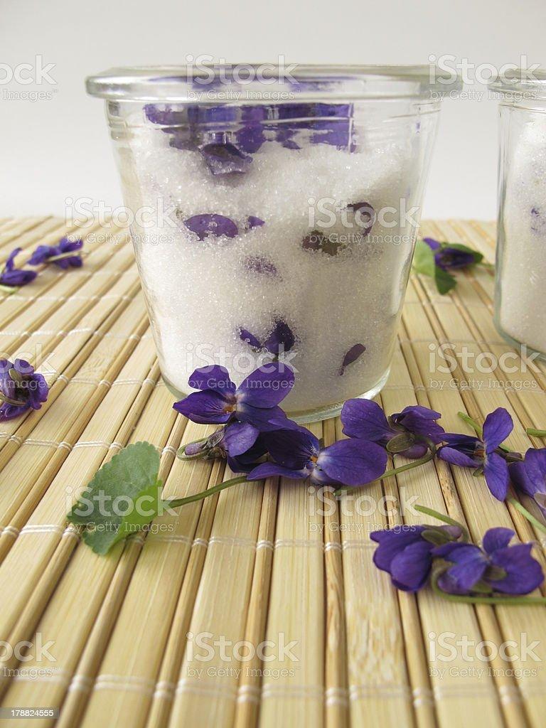Violet sugar stock photo