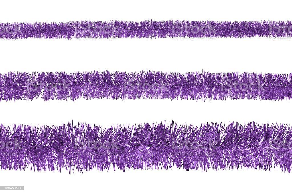 Violet tinsel royalty-free stock photo