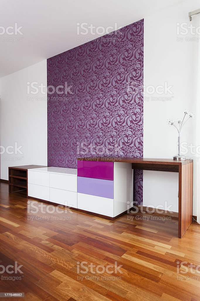 Violet wall royalty-free stock photo
