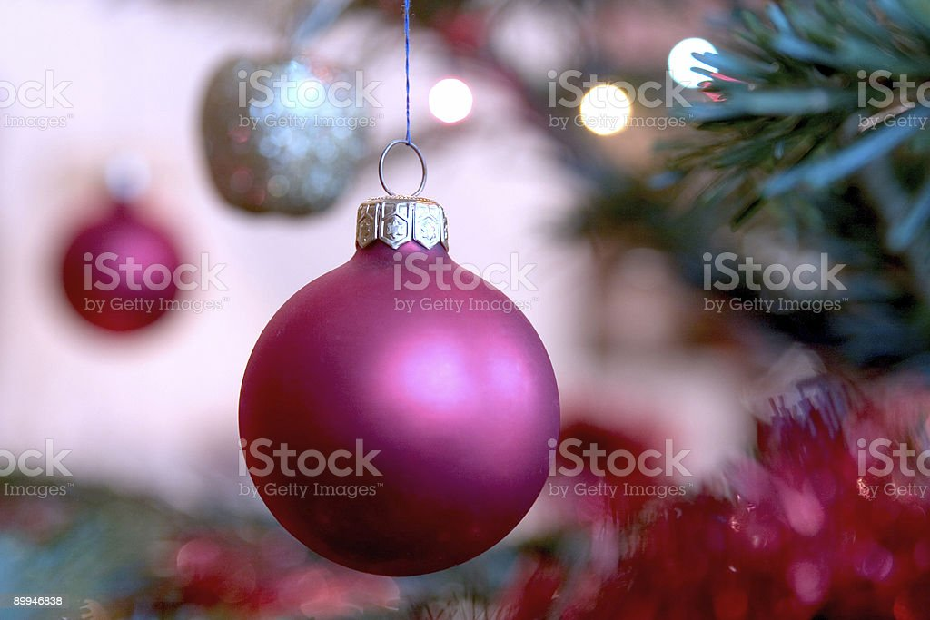 violet xmas bauble royalty-free stock photo