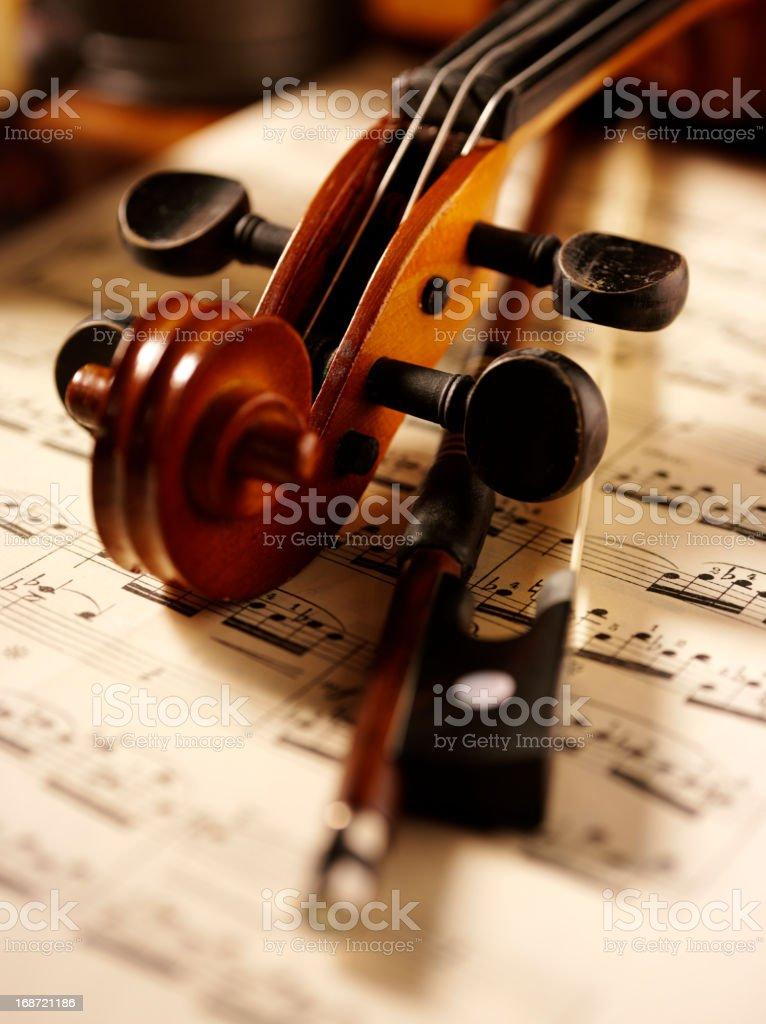 Violin and Bow royalty-free stock photo