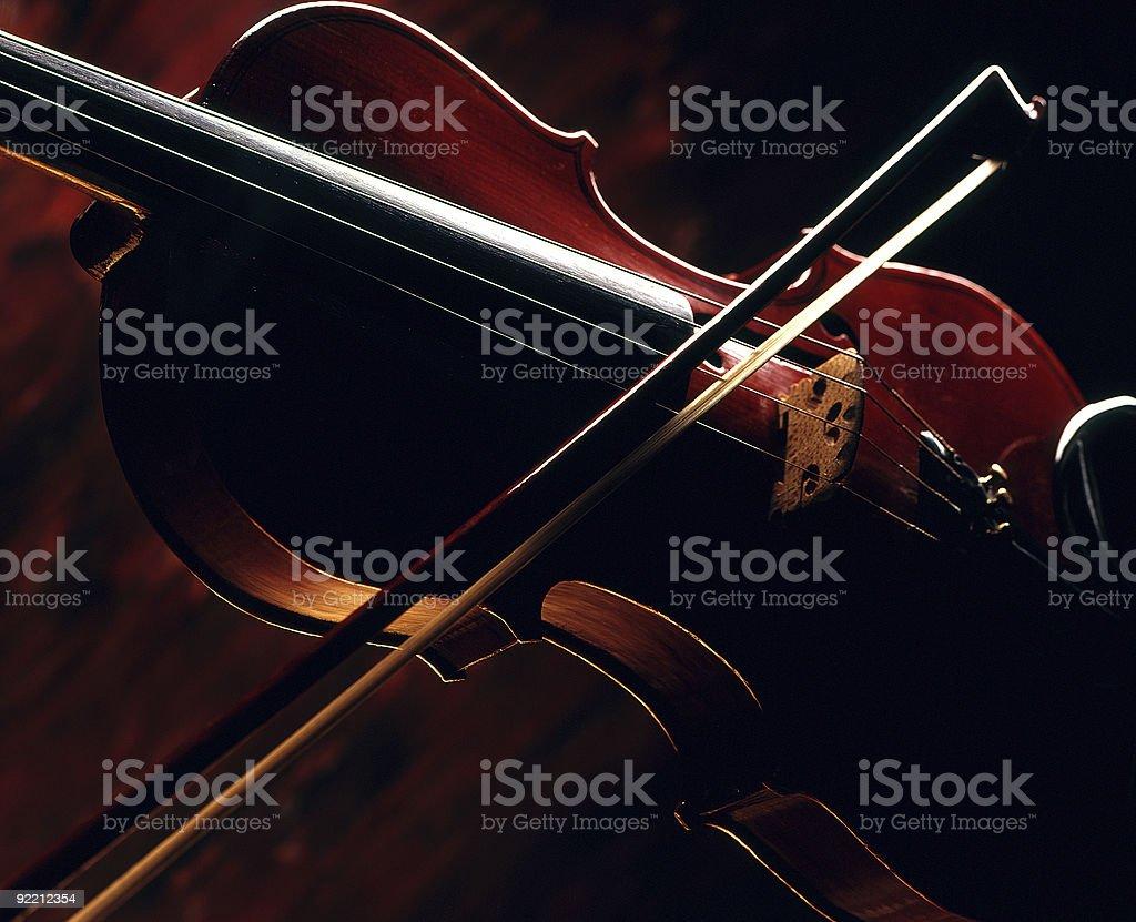 Violin and bow. royalty-free stock photo