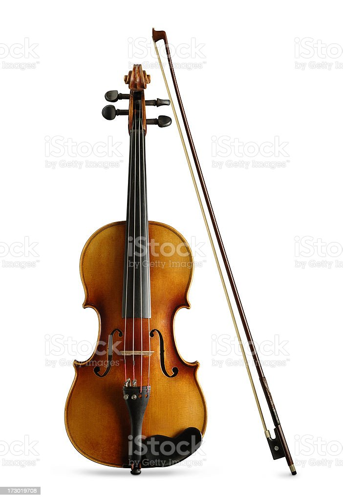 Violin and Bow with Paths stock photo